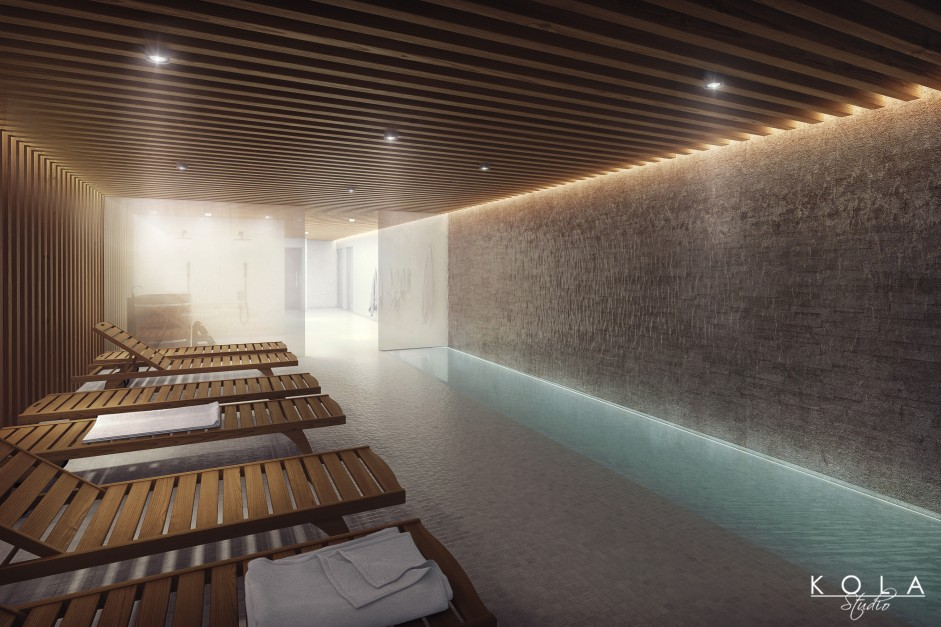 visualization of a SPA & Wellness zone in a hotel