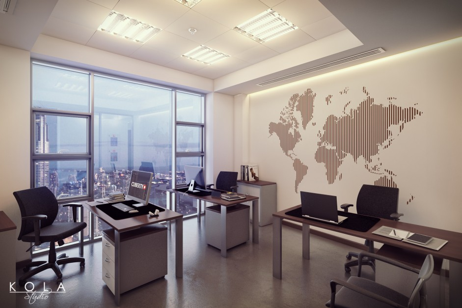 office interior visualiation in saudi arabia