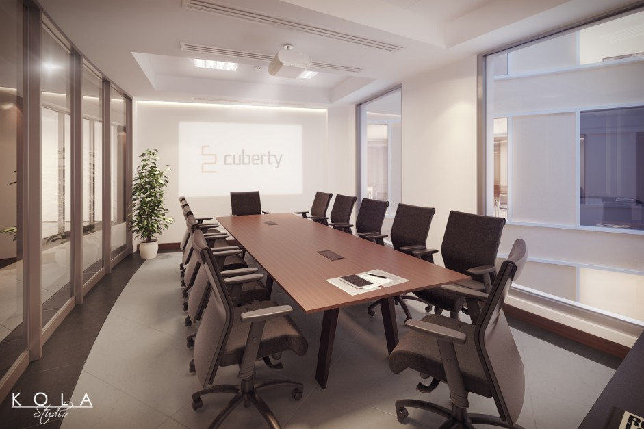 office interior visualiation in saudi arabia